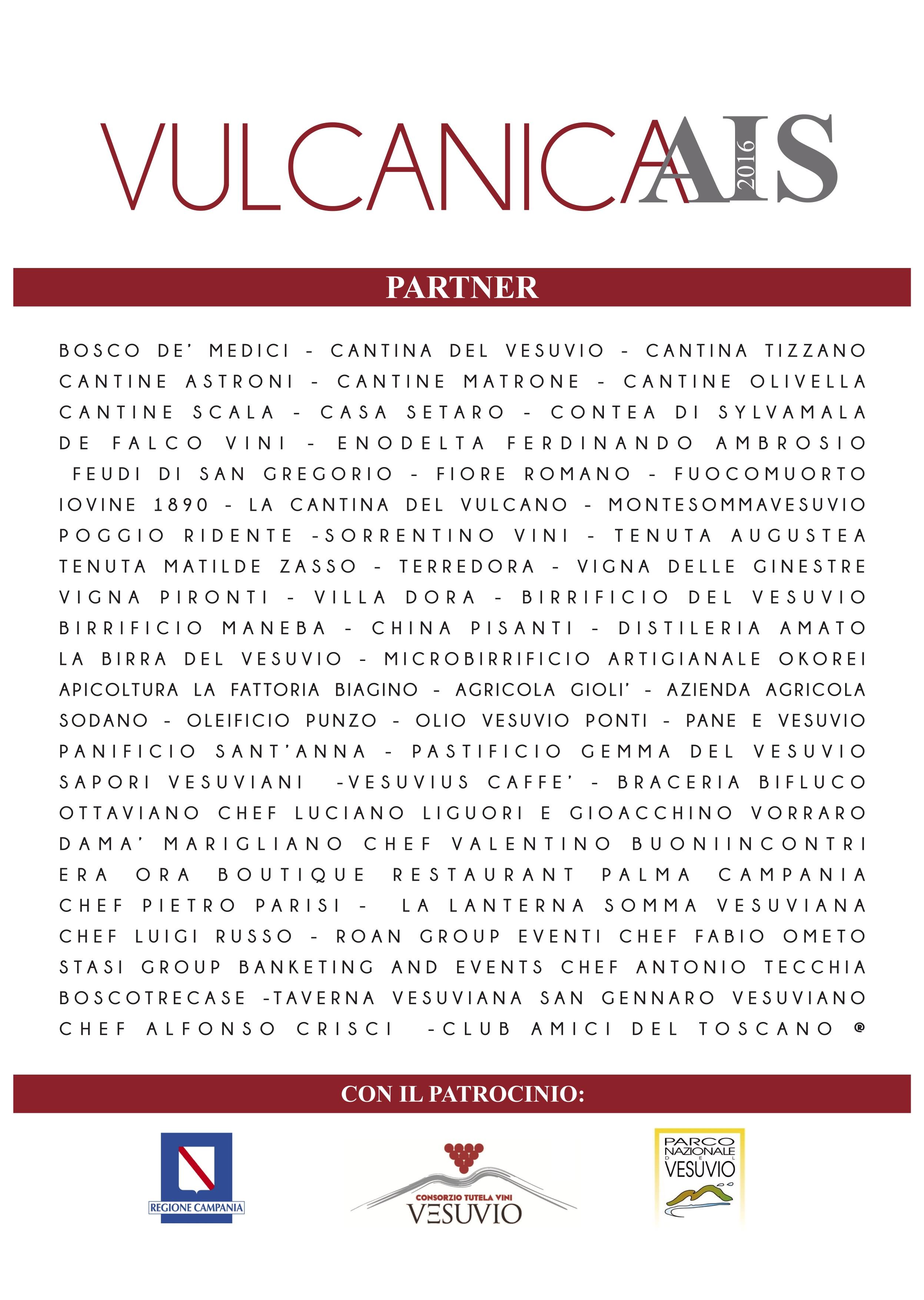 """I Partner della Manifestazione """"Vulcanica Ais""""!!!"""