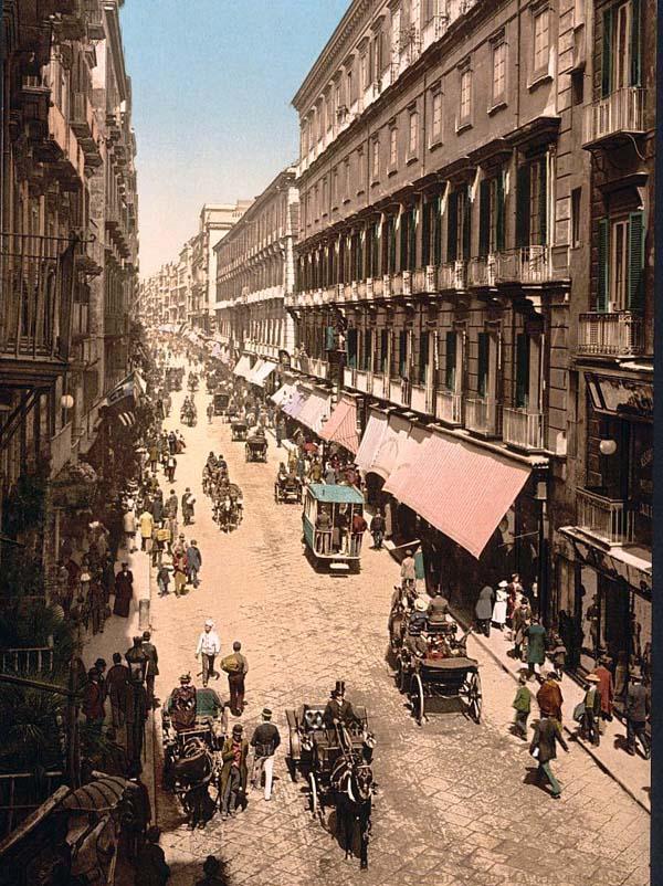 Via Toledo nel XIX Secolo