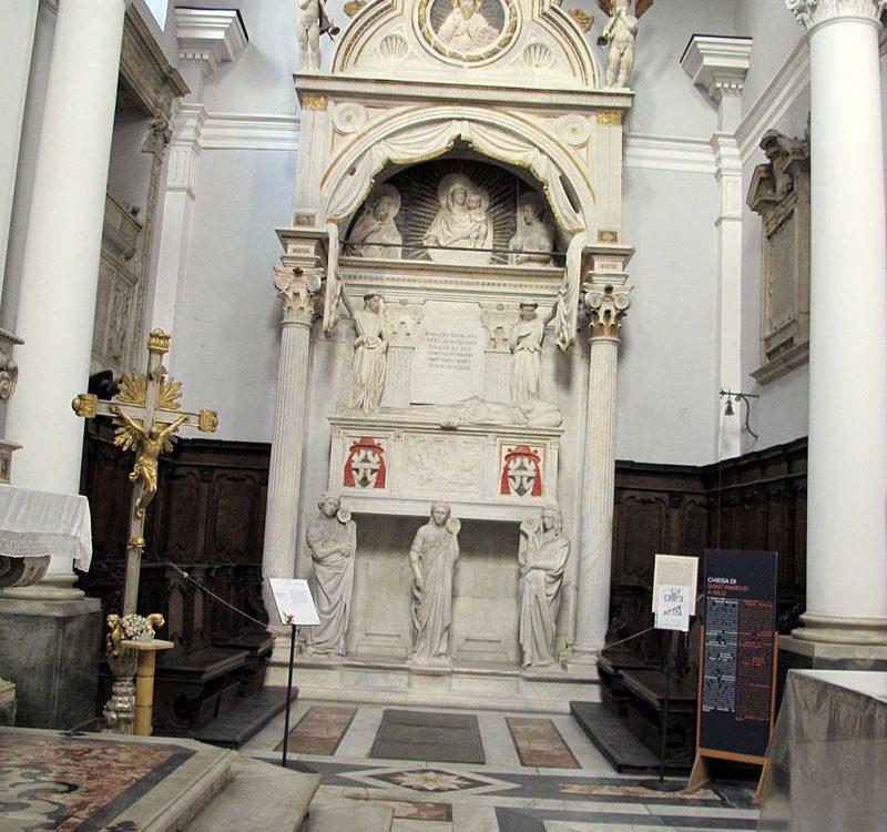 """Il """"Sepolcro del Cardinale Rainaldo Brancaccio"""", una dei capolavori di Napoli"""