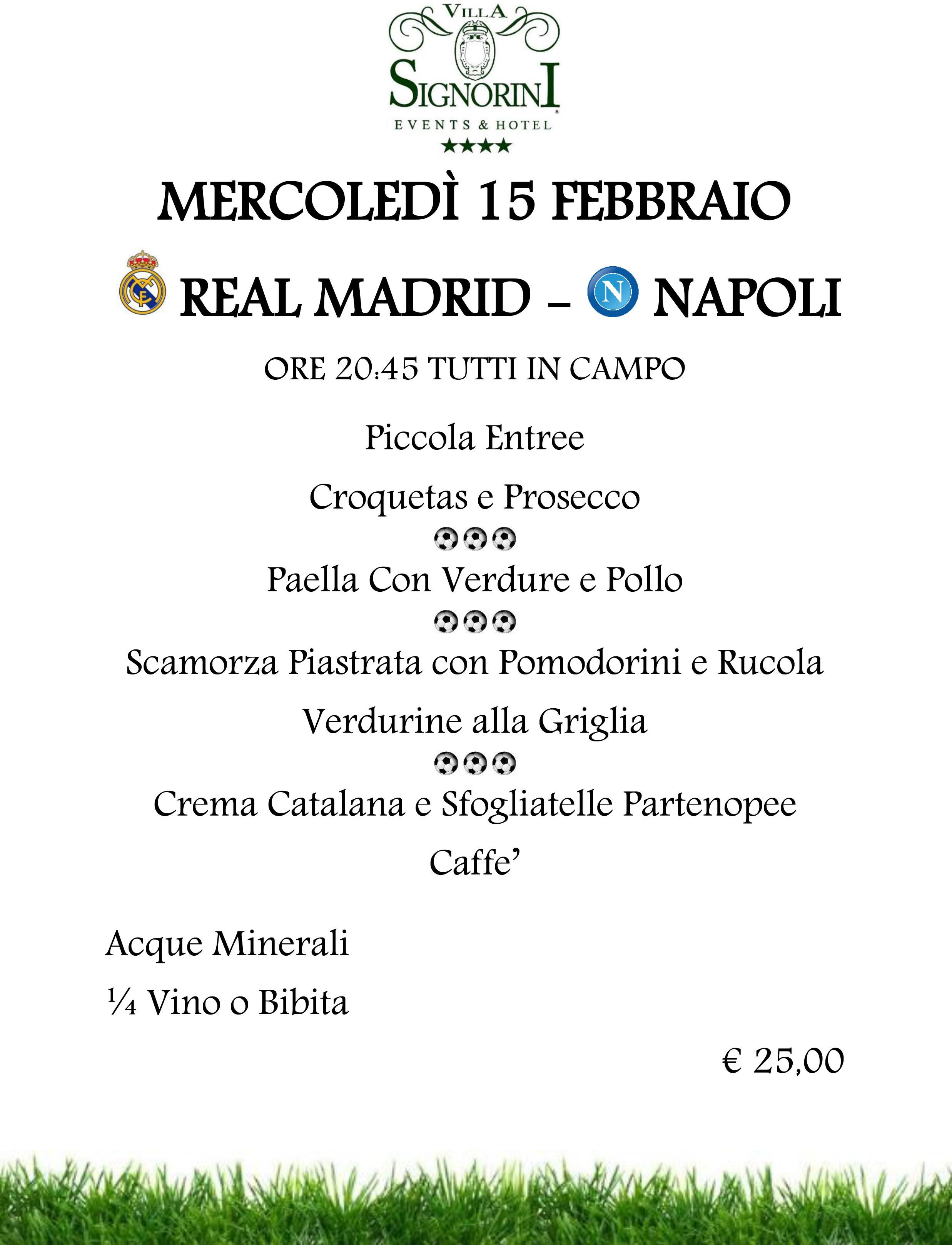 Real Madrid - Napoli tutti in campo