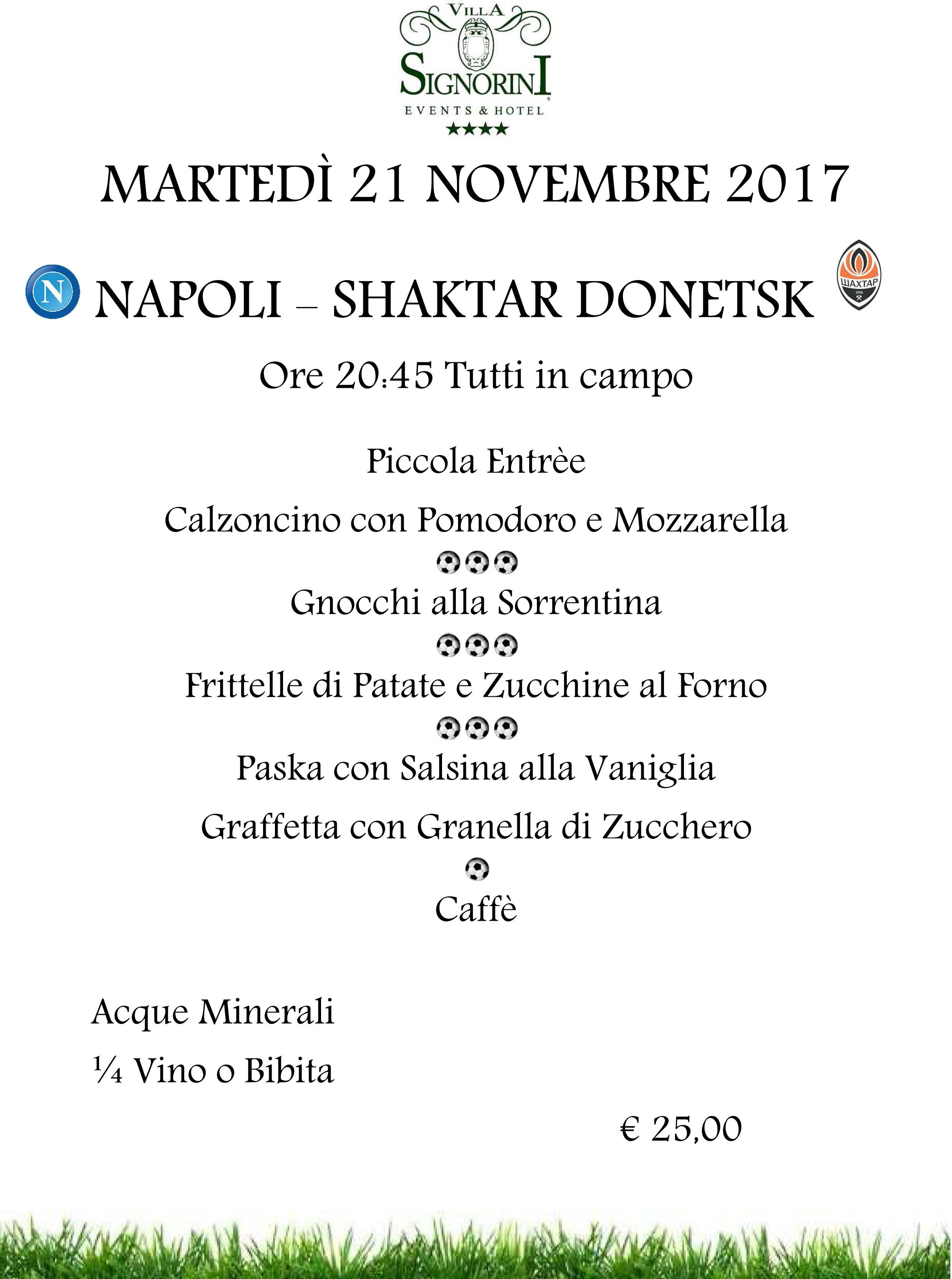11.21.2017 NAPOLI - SHAKTAR DONETSK